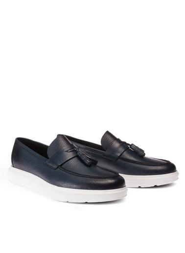 Deery Hakiki Deri  Ayakkabı Mavi